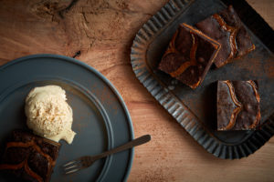 Caramel Explosion Brownie