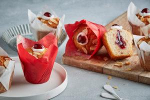 Cherry Bakewell Muffin