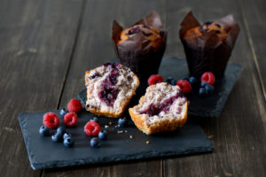 Skinny Mixed Berry Muffin