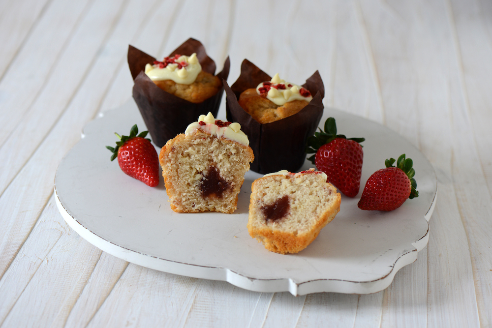 Strawberries & Cream Muffin